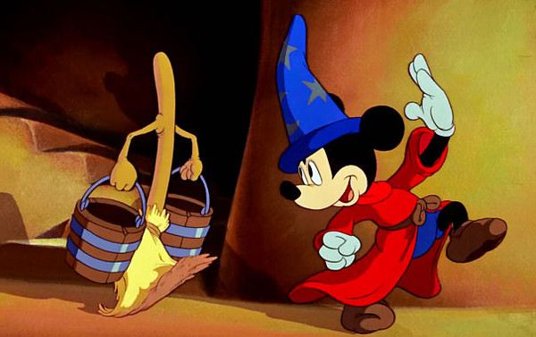 Mickey Mouse at the Sorcerer's Apprentice (Disney)