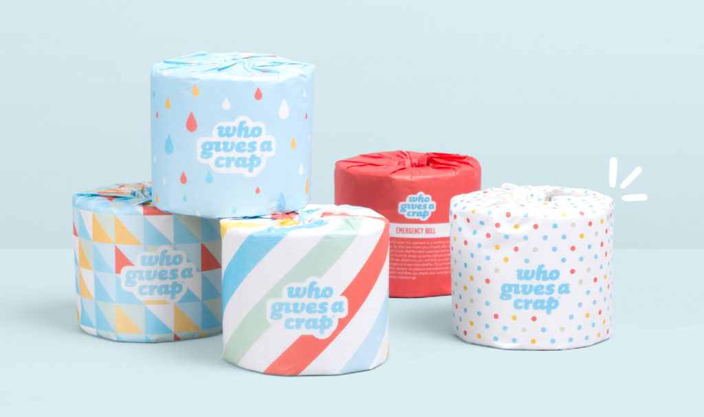 WhoGivesACrap Plasticfree Toilet Paper