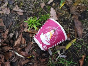 Littered Costa Cup