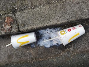 Littered McDonald's Cups