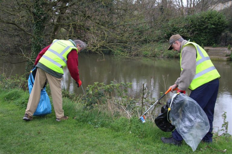 Cleaning up at Monkton Park, Chippenham